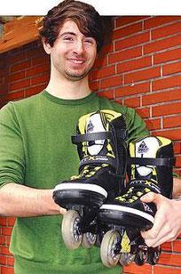 Mit Inlinern auf Deutschland-Tour: Mirko Lekat will im Mai und Juni rund 2700 Kilometer fahren.
