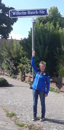 Gutes Omen? Barbara in der Straße des Busch-Bouler-Namensgebers in Mannheim