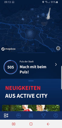 Screenshot der Active-City-App