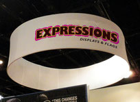hanging display trade show system