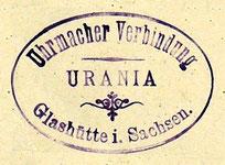"""Das Vereinssiegel der Uhrmacherverbindung """"URANIA"""""""