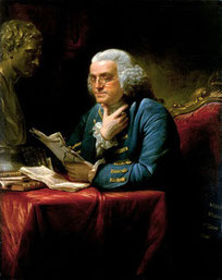 Benjamin Franklin, 1761, PD-Art 1923.