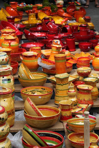 Plats en poterie