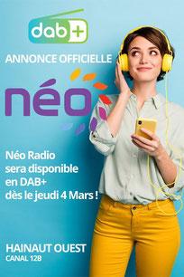 Néo Radio démarre le 4 mars en DABplus dans le Hainaut Ouest et le Nord de la France
