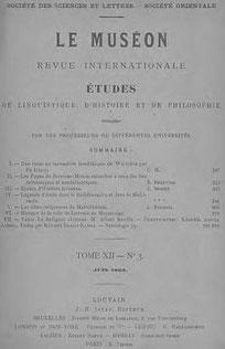 Couverture. SONG YÜ (vers 280 av. J.-C.) : Kiu pién, les neuf tableaux. — Traduction : Ch. de Harlez (1832-1899). — Revue Le Muséon, Louvain, t. XII, 1893.