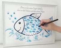 fisch taufe taufe fisch tauffisch fisch fingerabdrucke geschenk taufe fisch geschenk