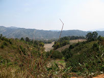 Landscape in Lak5 near the Vietnam border in Bolikhamxai province central Laos