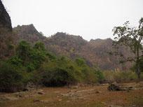 Limestone mountains near Thakhek, Khammouan province Laos
