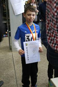 Christian Klee siegte beim 1100m Lauf