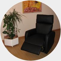 Auf dieser bequemen Relax-Liege werden sitzend oder liegend während Ihrer Hypnosesitzung Kombinationen aus den nachfolgenden verschiedenen Elementen eingesetzt.