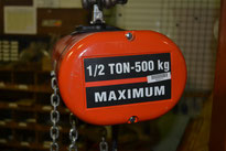 We have many new hoists in stock.