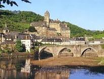 Le pont d'Estaing en Aveyron
