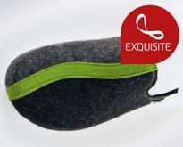 clogs15  schwarz-grau-grün Filz