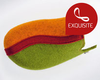 clogs14 apfelgrün-orange-rot Filz