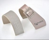 stretch04 roségold-metallic/Leder