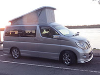 Nissan Elgrand  campervan roof