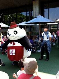 上野公園内のカフェの1日店長『パンダコパンダ』のパパに遭遇!!