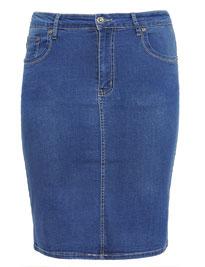 Strech Jeans Rock in Größe 52