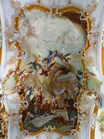 """Deckengemälde """"Maria, Trösterin der Betrübten"""", St. Michael, Violau"""