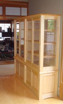 飾り棚 木製 茶器