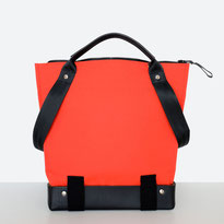 Trasporta bag - Adaptive Bag - Wheelchair bag - Bag for wheelchair user - Bag with zipper - Tote bag - Shoulder bag - Made in Ticino - Color Red