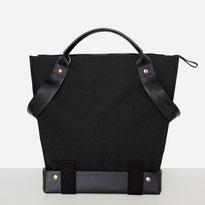 Trasporta bag - Adaptive Bag - Wheelchair bag - Bag for wheelchair user - Bag with zipper - Tote bag - Shoulder bag - Made in Ticino - Black