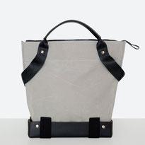 Trasporta bag - Adaptive Bag - Wheelchair bag - Bag for wheelchair user - Bag with zipper - Tote bag - Shoulder bag - Made in Ticino - Dark Grey
