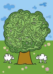 Van Bun Communicatie & Vormgeving - Internetgazet Lommel - Illustraties - Tekeningen - Grafisch ontwerp - Publiciteit - Reclame - Lommelse levensboom