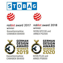 Stag reddot award 2017, reddot award 2018, German Design Award Winner 2019 und 2020