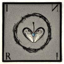 black white mood mold iron circle crown conceptual creation still-life