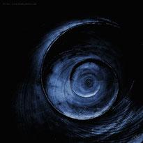 abstract fibonacci blue shell spiral blue
