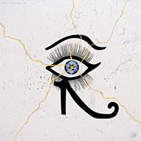 eye tear Horus Oudjat  conceptual gilding