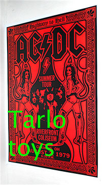 AC/DC print poster in patinate paper small size