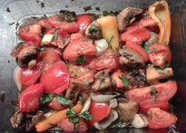 Warmer Tomaten-Champignon-Salat