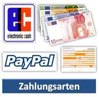 wir akzeptieren folgende Zahlungsarten