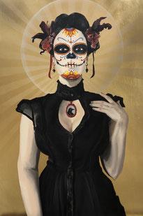 Catrinas y la Calacas : A tribute to  Dia de los  Muertos
