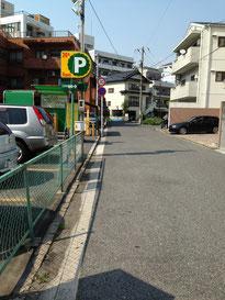 曲がった通りを進むと右手に出汐公園が見えてきます