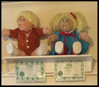 Cabbage Patch dolls from the 1980s
