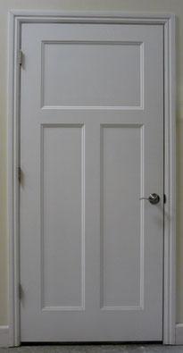 Flat panel interior door