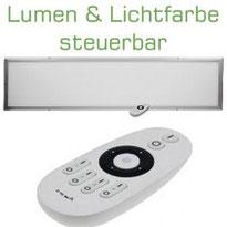LED Licht-Panel 50W, 30x120cm Lichtfarbe & Lumen per FB regelbar, 3700 bis 4000lm