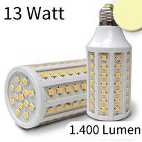 E27 Corn Leuchtmittel, 88 SMD, 13W, warmweiss,  Lumen: 1.400lm