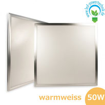 LED Panel 50W, 60x60cm, diffuse dimmbar  warmweiss, 3723lm, Gehäuse silber,