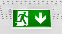 LED Notfall-, Fluchtwegleuchten