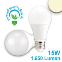 E27 LED GLOBE 19W, Milchglas, warmweiss, Lumen 1.200lm