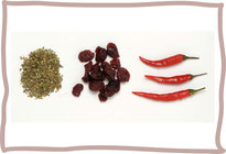 Oregano, Chili und Cranberry