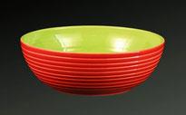 Fuente  roja y verde Ø 28 cm.