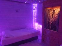 Inhalationsraum mit 2 Wasserbetten und Intensivsole im SALINUM Hagen