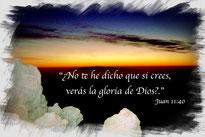 foto con verso Juan 11:40