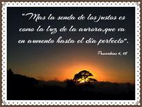 foto con verso Proverbios 4, 18