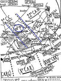 Zone d'action de la 28e D.I.